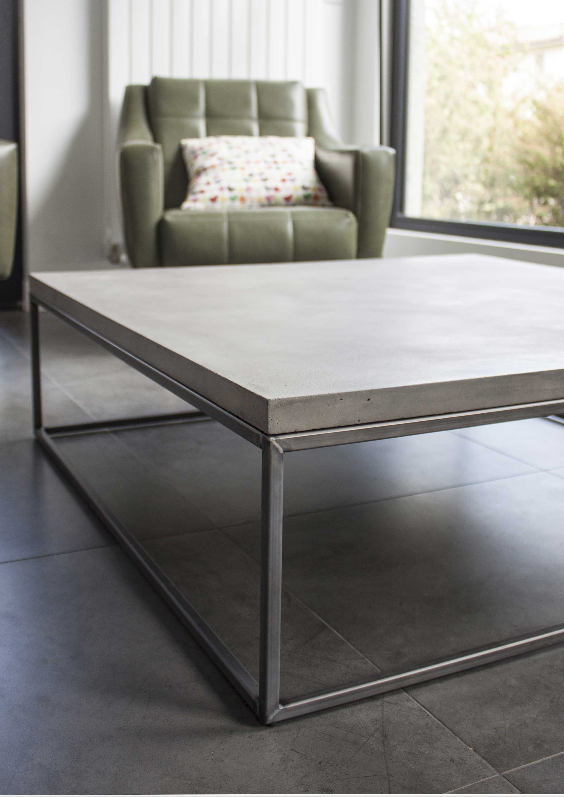 Our Concrete Perspective Coffee Table By Lyon Béton Has Simple Lines Clean Geometric Shapes And A Fuss Less Material