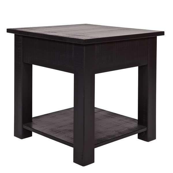 Beistelltisch Nachtschränkchen BORIS Kiefer schwarz Tische - ikea küche tisch