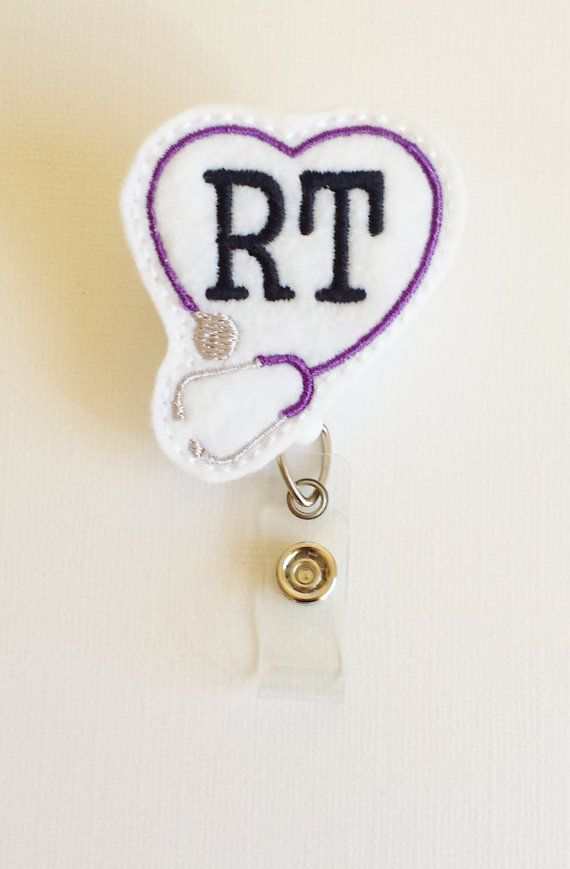 Respiratory Therapist Felt Badge Reel  by SimplyReelDesigns