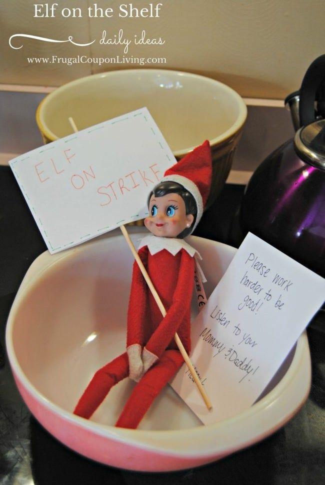 101 Easy Elf on the Shelf Ideas #elfontheshelfideasfortoddlers