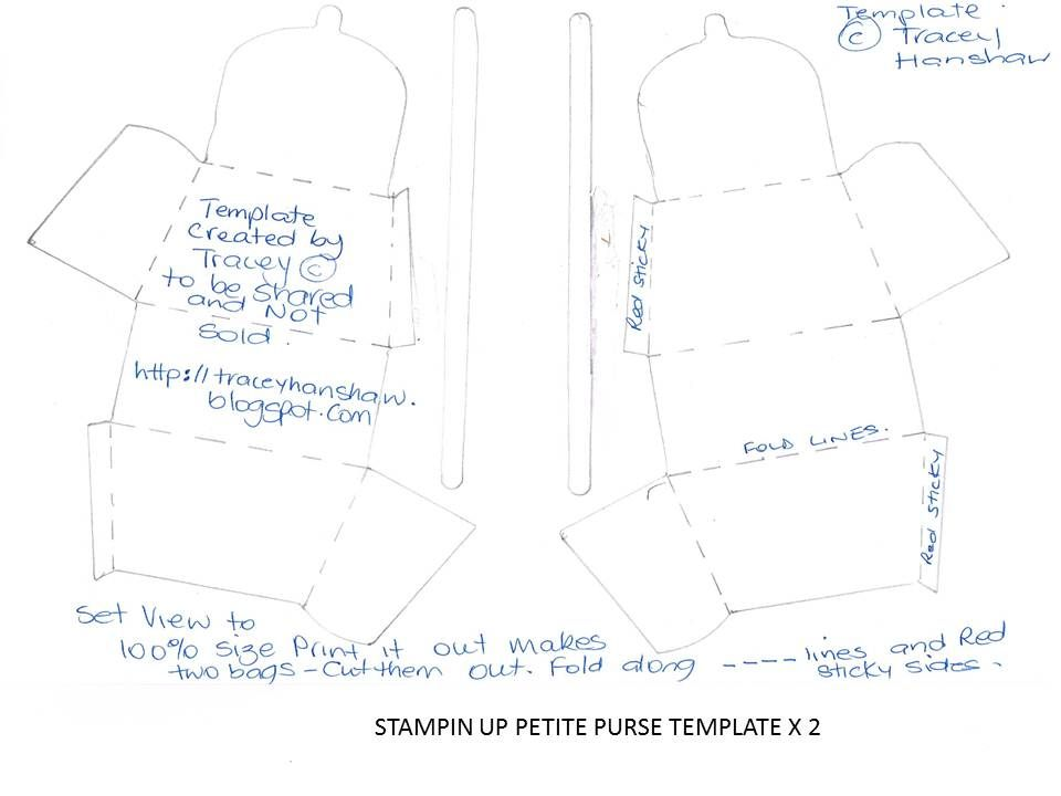 TRACEY HANSHAW ASK ME ABOUT STAMPINu0027 UP! PETITE PURSE BIGZ DIE - copy blueprint paper free