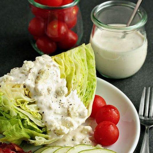 Homemade Blue Cheese Dressing Recipe Recipe Blue Cheese Dressing Recipe Homemade Salads Recipes