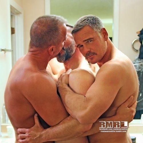 Kissing mature guys