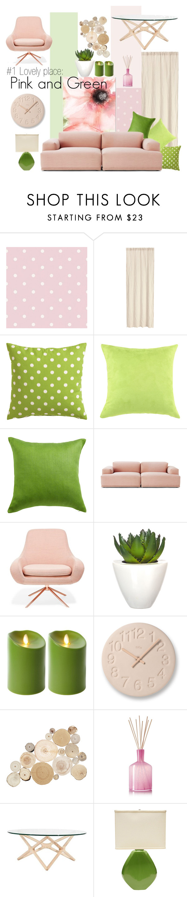 """""""#1 LOVELY PLACE: PINK AND GREEN"""" by witchfromheaven on Polyvore"""
