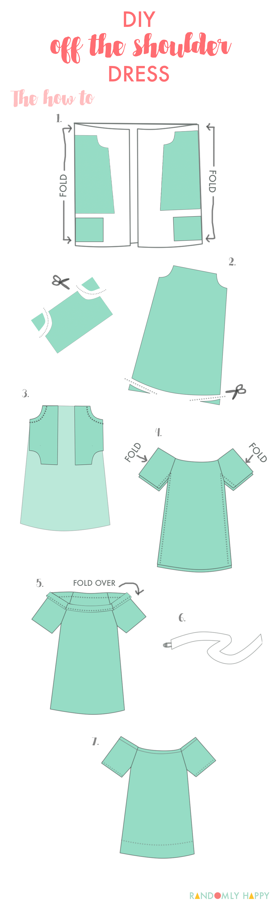 DIY off the shoulder summer dress (how to | Costura, Patrones y ...