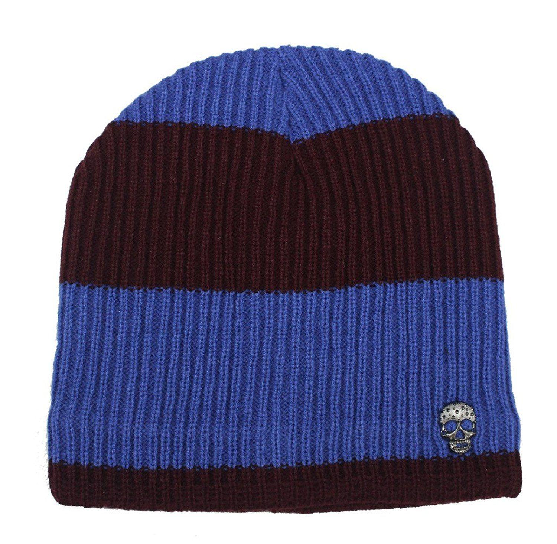 Romano Womens Black Stylish /& Warm Wool Winter Skull Hat Cap