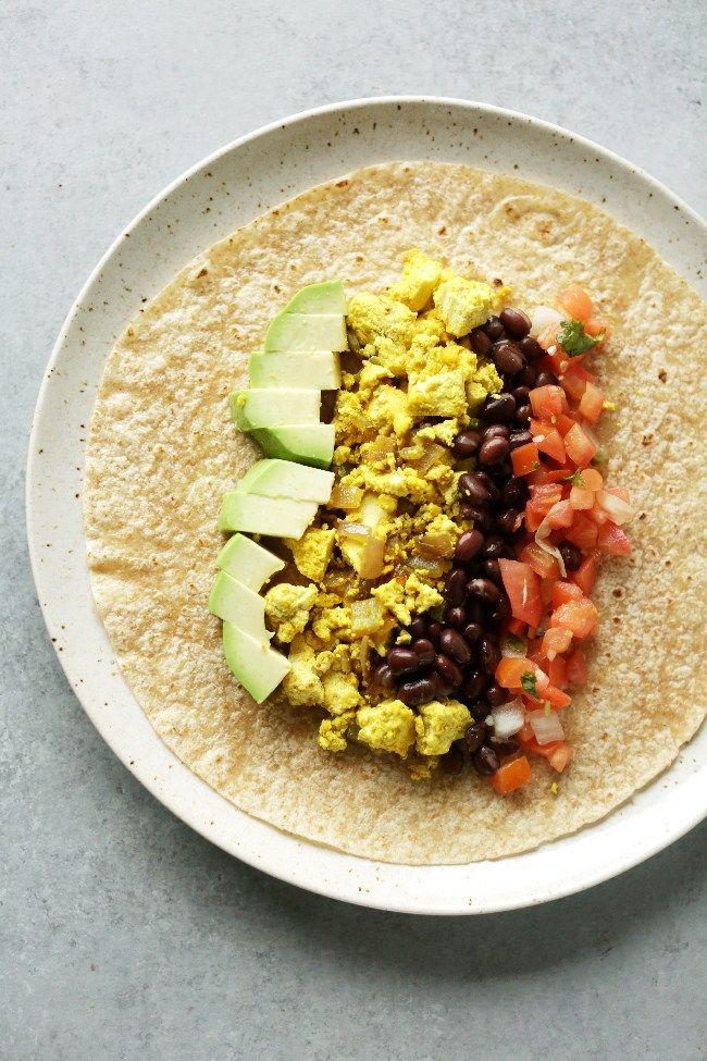 Protein Packed Vegan Breakfast Burrito Nutritional Foodie Recipe Healthy Breakfast Burrito Healthy Breakfast Meal Prep Vegan Breakfast Burrito