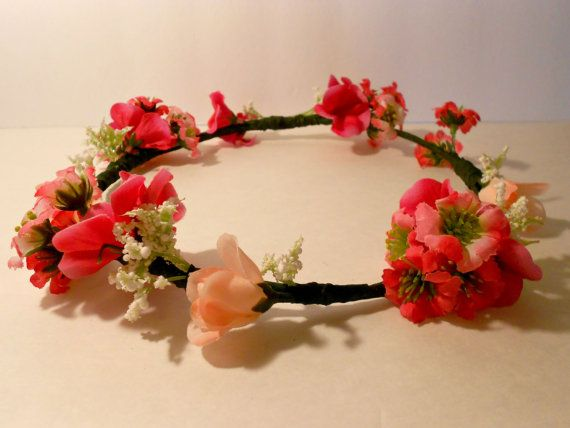 Rose Buds And Flowers Crown by urbanaccessories4u on Etsy, $23.00