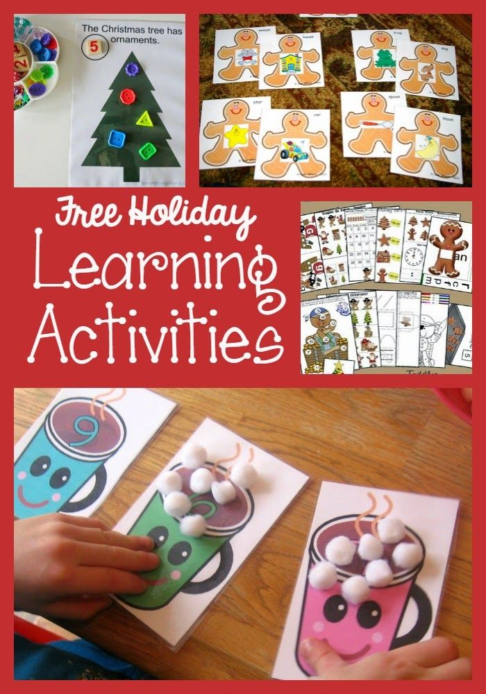 Free Christmas Printables for Preschoolers Free