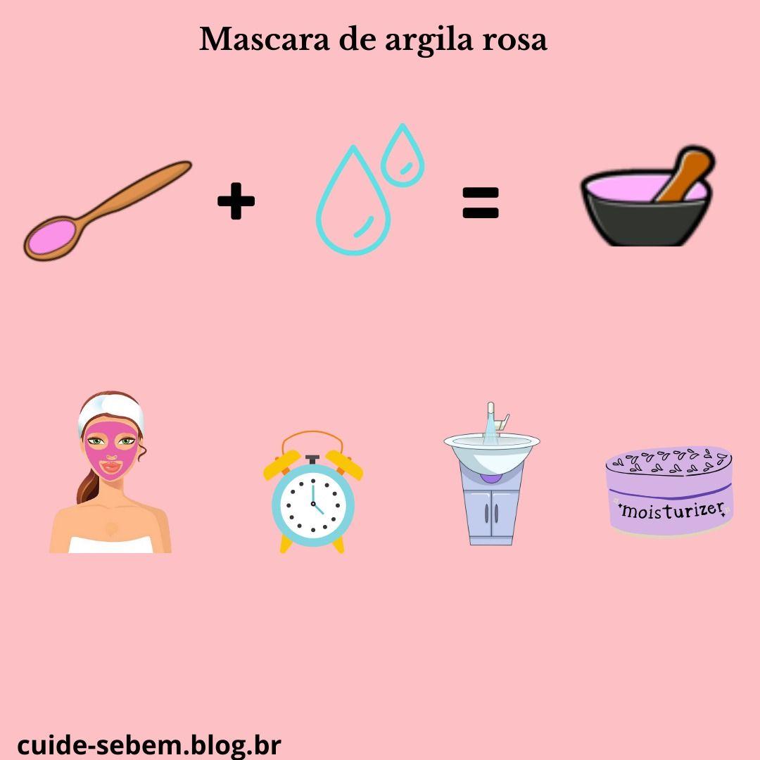 A Argila Rosa E Rica Em Oxido De Ferro Fazer Uma Mascara De Argila