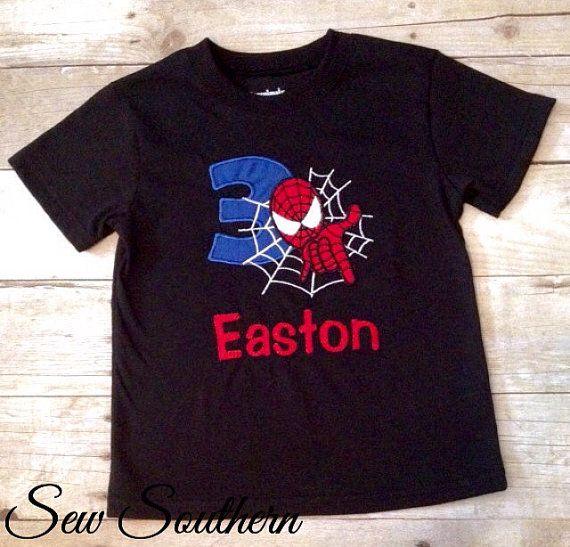 21cd7a7c5 Custom Spider-man Birthday Shirt by ShopSewSouthern on Etsy | Future ...