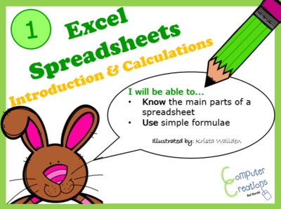 microsoft excel spreadsheets lesson 1 introduction to spreadsheets