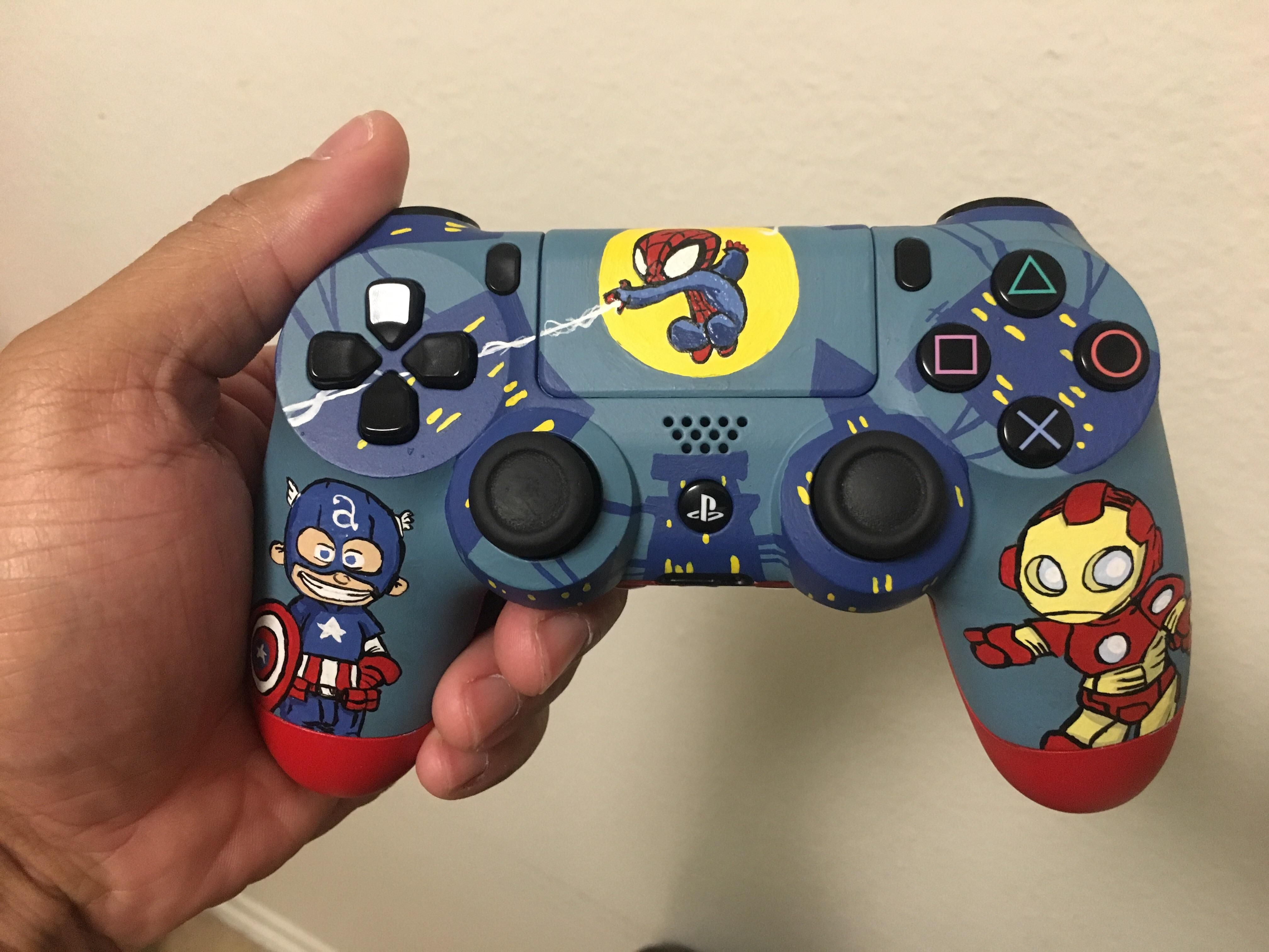 Hand Painted Ps4 Controller For My 4 Year Old Son For Xmas Screenshot Playstation4 Ps4 Sony Videogames Playstati Ps4 Controller Ps4 Cool Ps4 Controllers