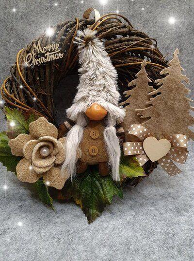 Photo of Ghirlanda natalizia con gnomo