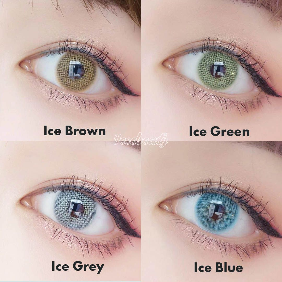 Ice Series Contactlenses Clear Notch Pattern Shown On