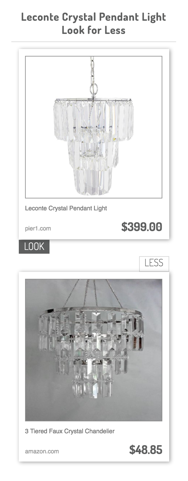 Leconte crystal pendant light vs 3 tiered faux crystal chandelier leconte crystal pendant light vs 3 tiered faux crystal chandelier arubaitofo Gallery