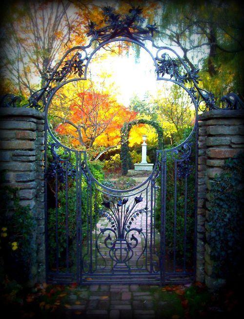 Wrought Iron Garden Gate In Stone Walls   Dumbarton Oaks, Washington DC    Photo Via Ontheborder