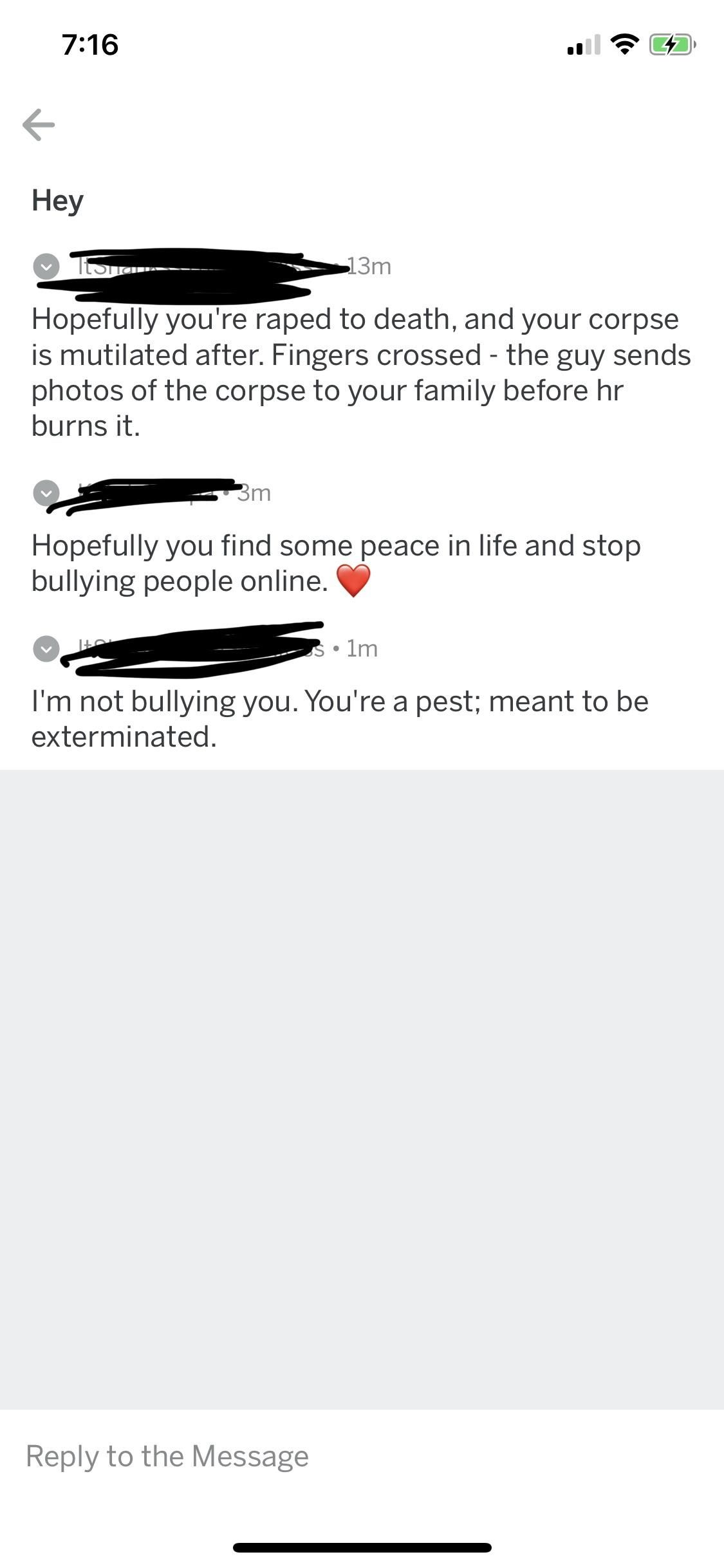 All because I said he was a douchebag for bullying someone
