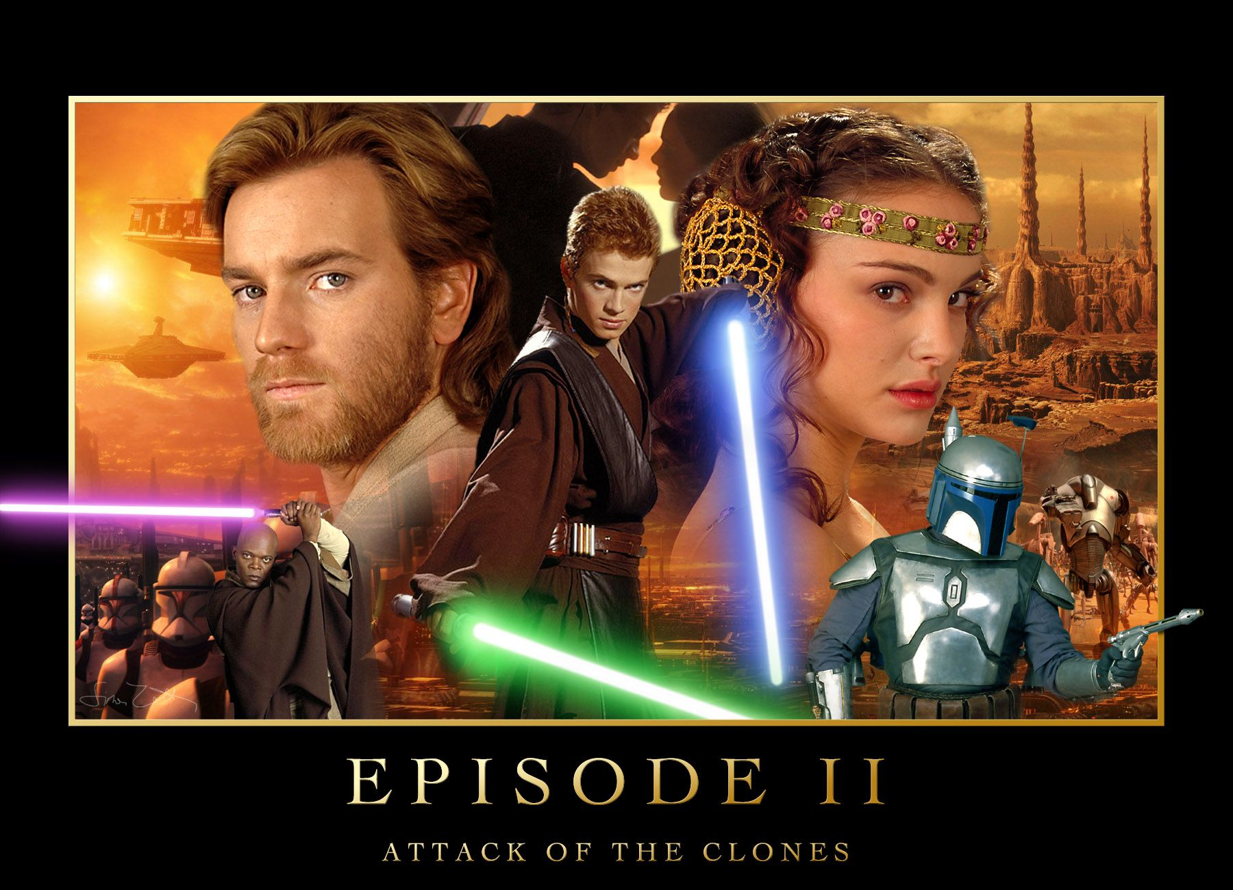 Attack Of The Clones Poster Star Wars Star Wars Episode 2 Star