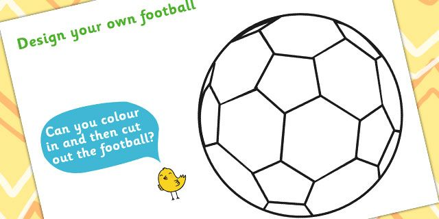 Football/World Cup- Design A Football Worksheet