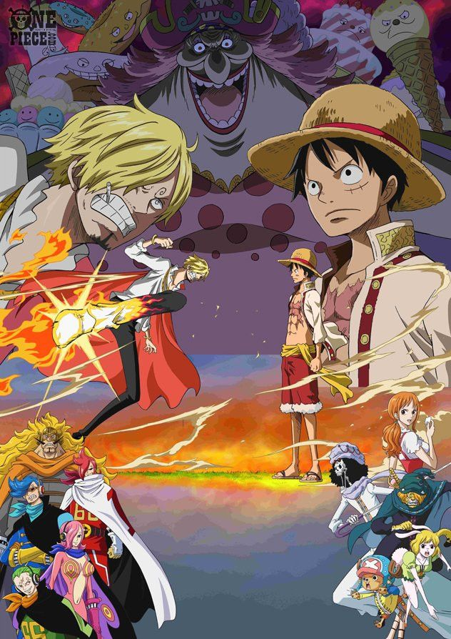 الكشف عن ملصق دعائي لأرك جزيرة الكعكة الكاملة من انمي One Piece