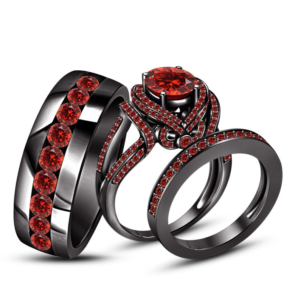 Pin On Trio Engagement Ring Set