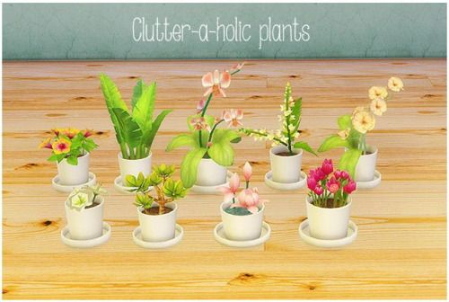 Clutter a holic plants conversions ts2 ts4 updated for Indoor gardening sims 4