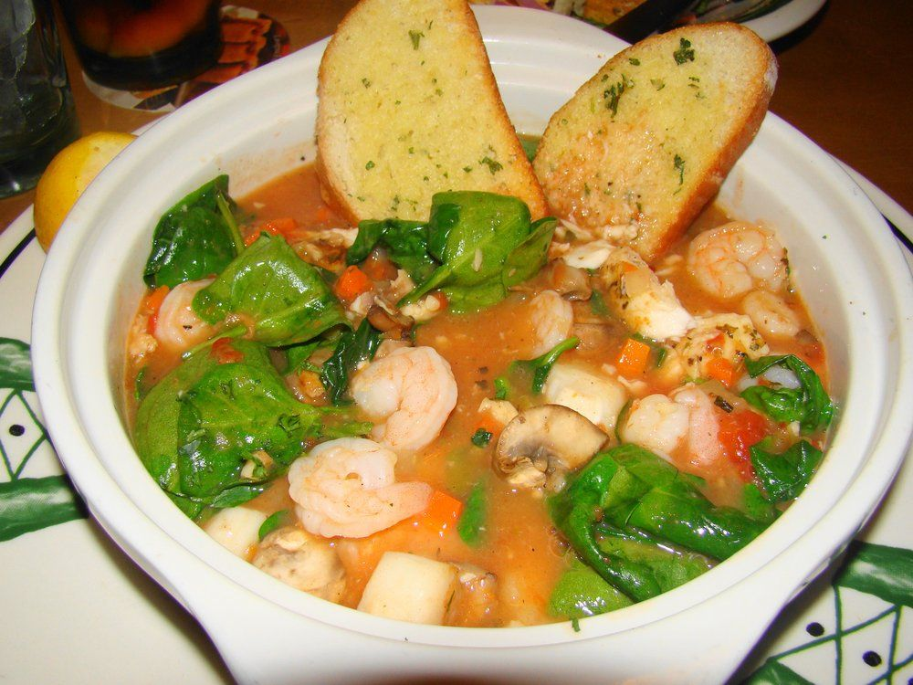 Seafood Brodetto at Olive Garden 480 calories of Delicious