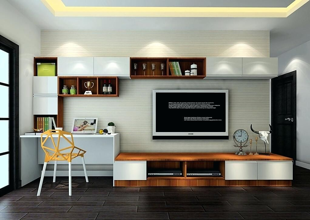 Tv Stand Desk Combo Combination Modern Living Room Cabinet And Keep Your Neat Home Remodel Ideas Corn Desk In Living Room Living Room Tv Living Room Tv Cabinet