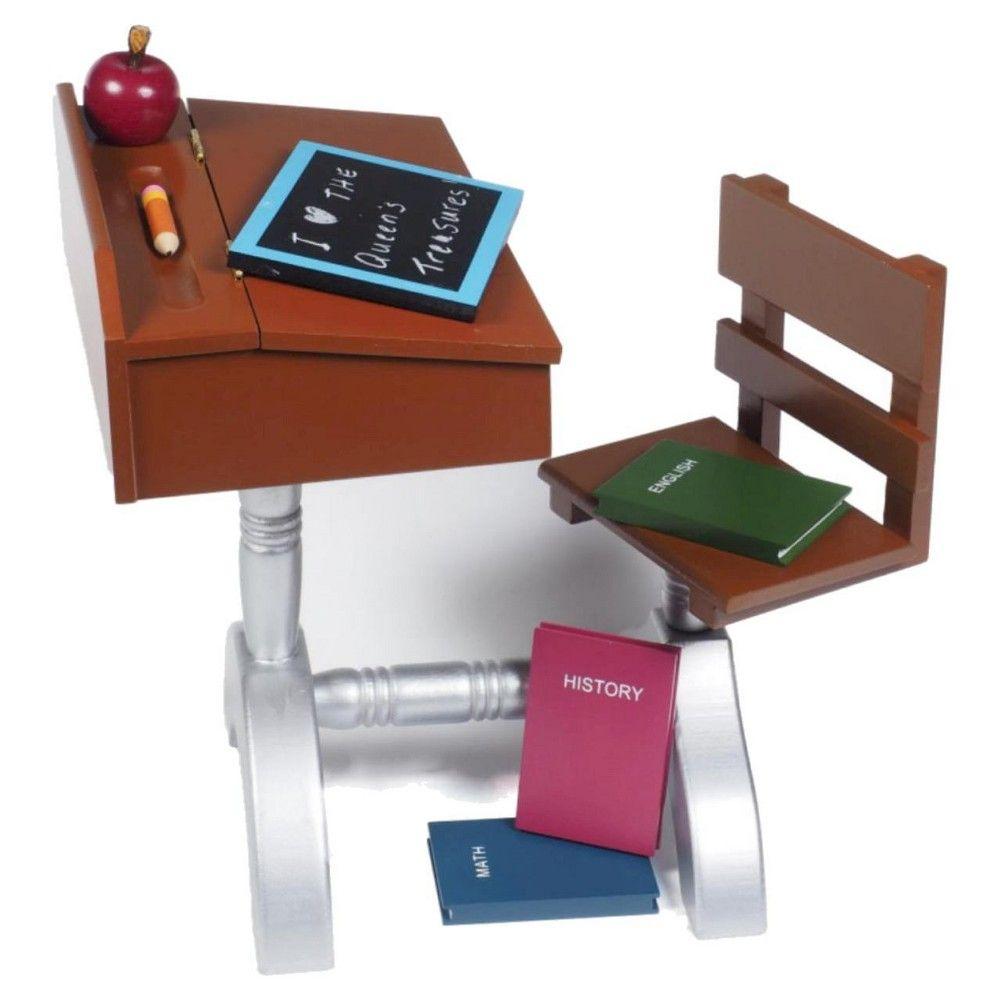 "18/"" Doll Furniture 6Pc School Accessory Set Fit American Girl 1930/'s Wood Desk"