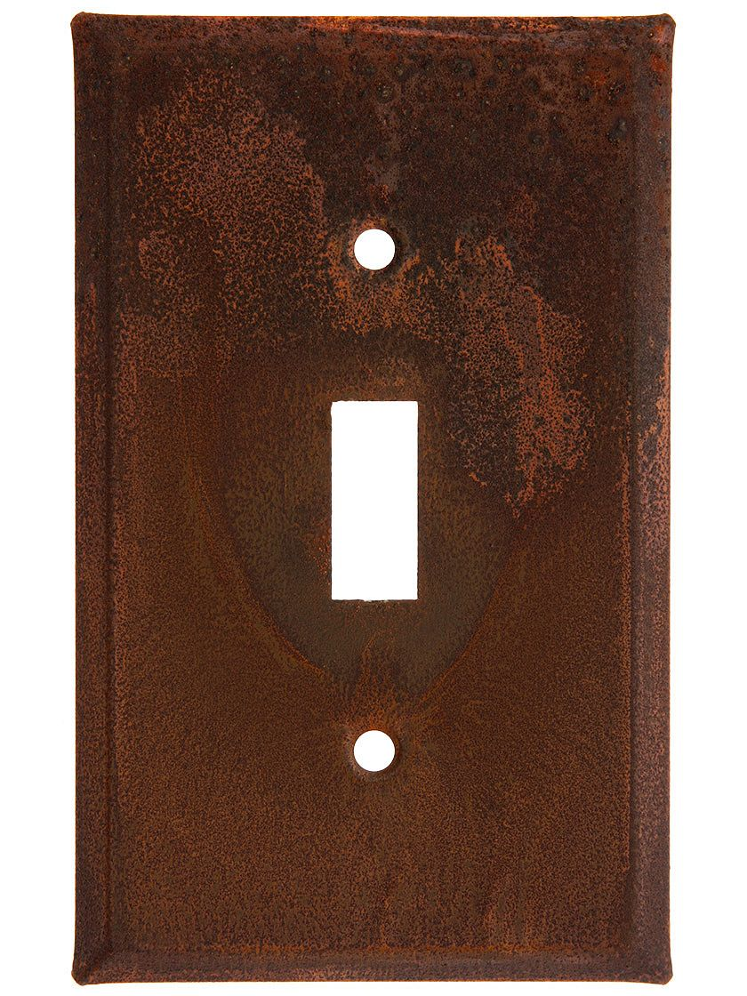 Rustic Light Switch Covers Country Tin Single Toggle Switch Plate With Rust Or Antique Finish