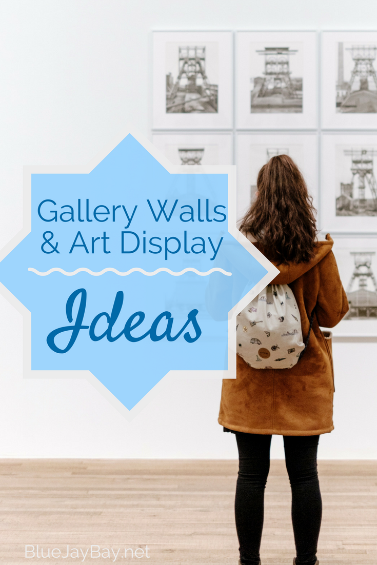 Welcome to Blue Jay Bay's Gallery Walls & Art Display Ideas board. I am collecting art framing and display ideas, and inspiring gallery wall designs for home, office, living room, bedroom, powder room, and more. #blue bedrooms powder #powderroomdesign