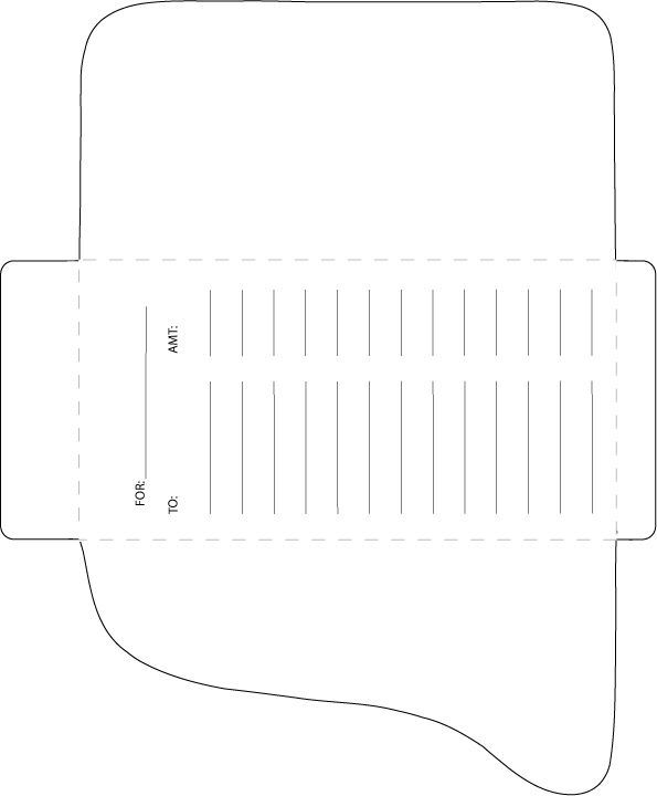 Cash envelopes template (Dave Ramsey style) This, That, These - letter envelope template