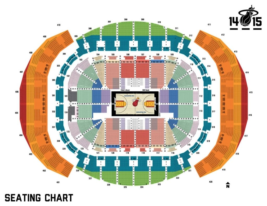 Soldier Field Seating Chart With Seat Numbers Miami Heat Miami