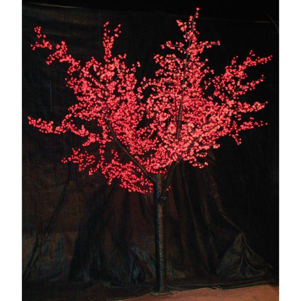 12 Ft Pre Lit Led Cherry Blossom Tree Red Cherry Blossom Tree Led Lights Event Decor Direct