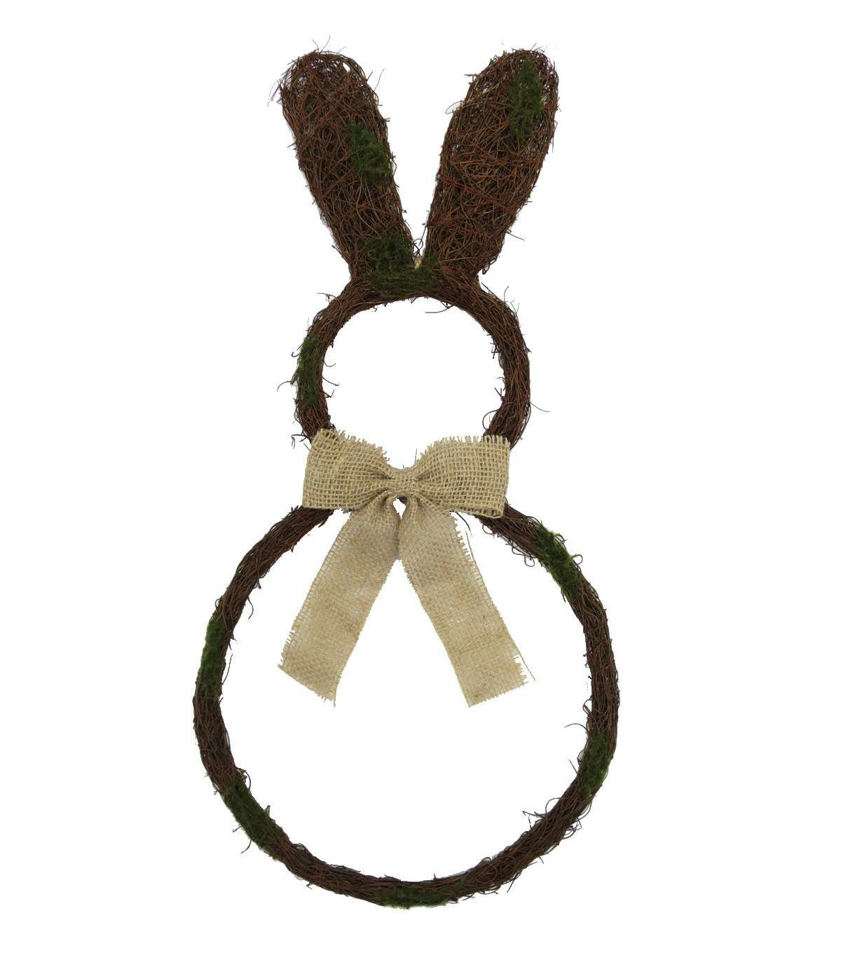 Easter 24'' Bunny Grapevine Wreath