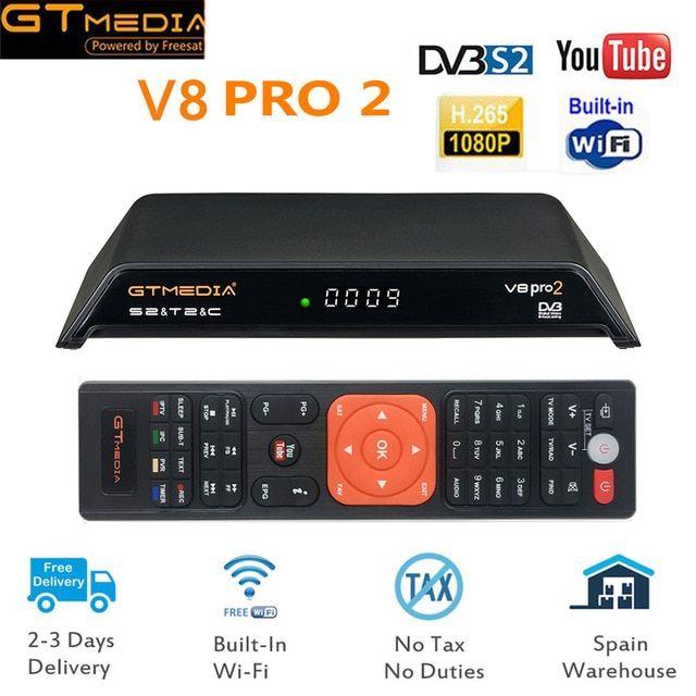 2019 NEW Arrival GTMedia V8 Pro2 Full HD DVB-S2 T2 Cable Satellite