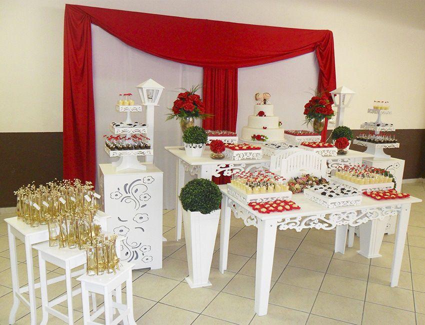 Decoraç u00e3o Para Casamento Vermelho e Branco, Aluguel de Provençal Para Festas e Decorações de