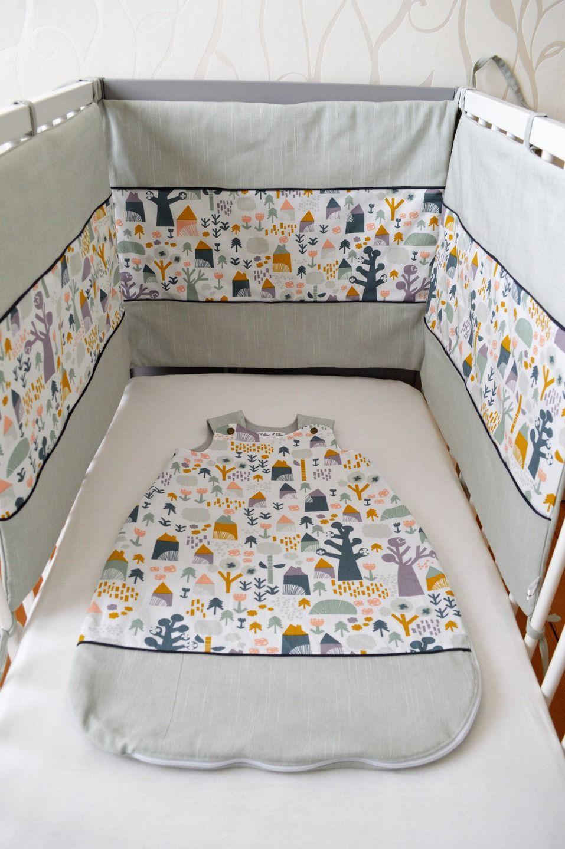 tour de lit ouatin 3 panneaux ensemble scandinave eden tour de lit et gigoteuse. Black Bedroom Furniture Sets. Home Design Ideas