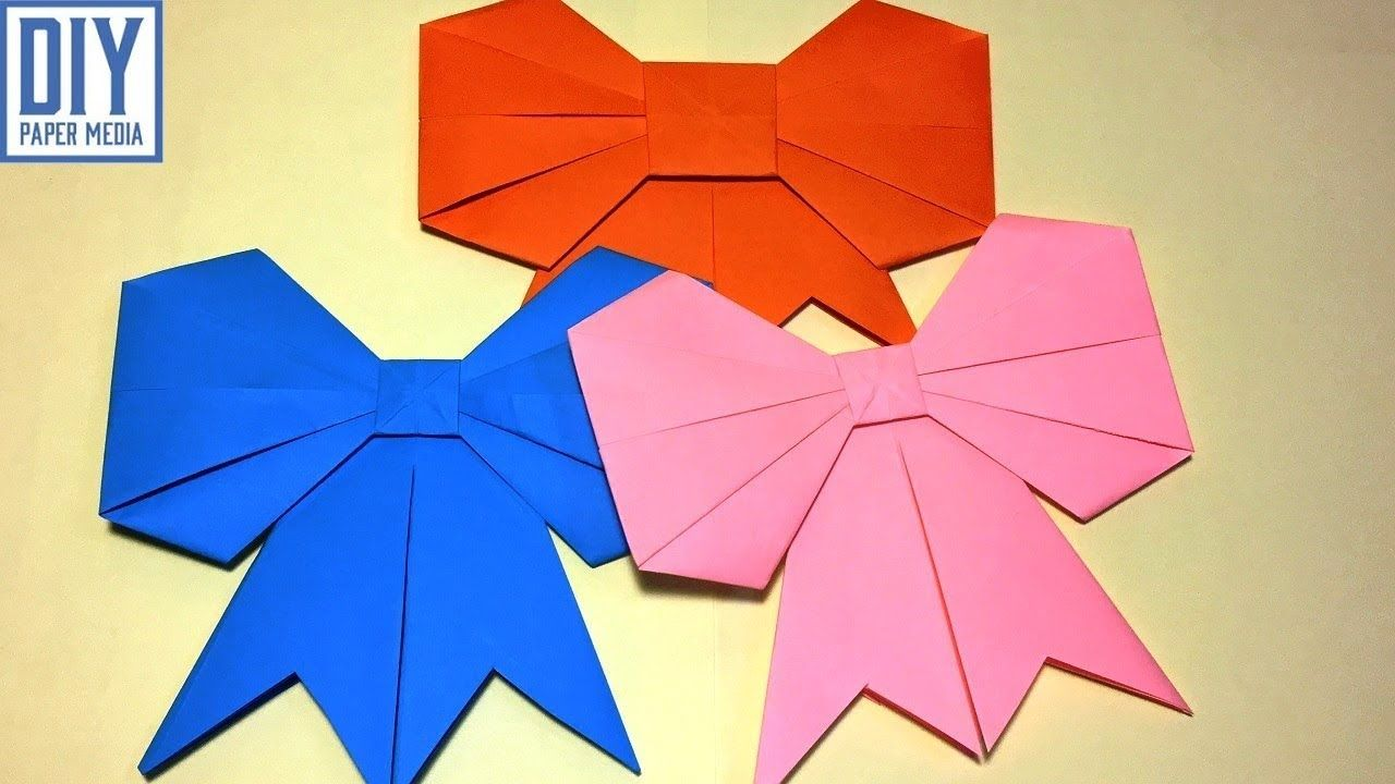 How To Make A Paper Bow Diy Origami Bow Folding Tutorials Ribbon