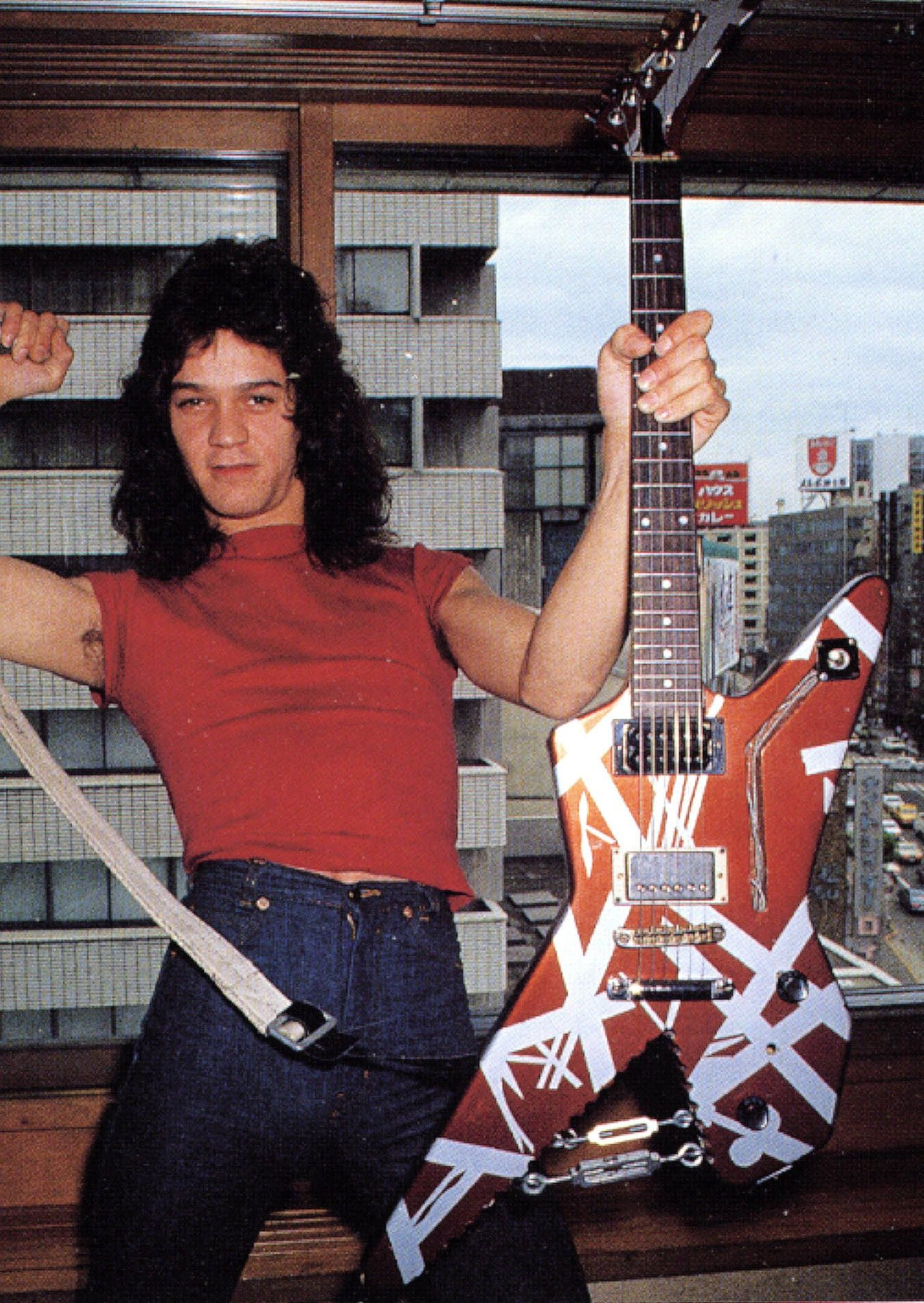 Edward Van Halen And Destroyer Guitar Eddie Van Halen Van Halen Van Halen 5150