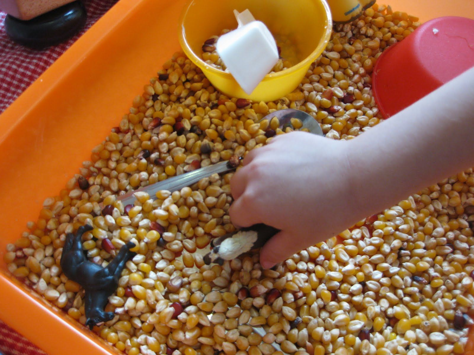Fun farm themed sensory play