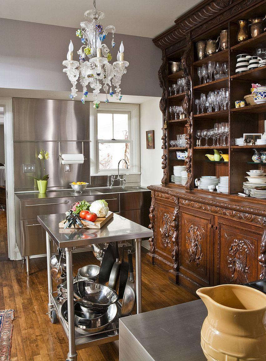 Kleine Edelstahlinseln für die Space-Savvy Modern Kitchen ...