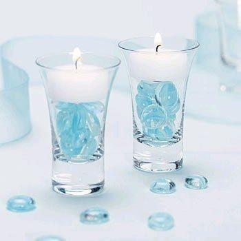 id es de d coration de mariage vert blanc bougie flottante bougies et d corations de. Black Bedroom Furniture Sets. Home Design Ideas