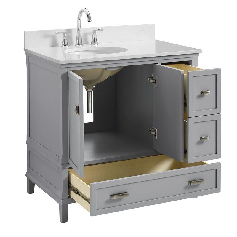 Wayfair Bathroom Vanity >> Ka 36 Single Bathroom Vanity Set 7810 Bathroom In 2019
