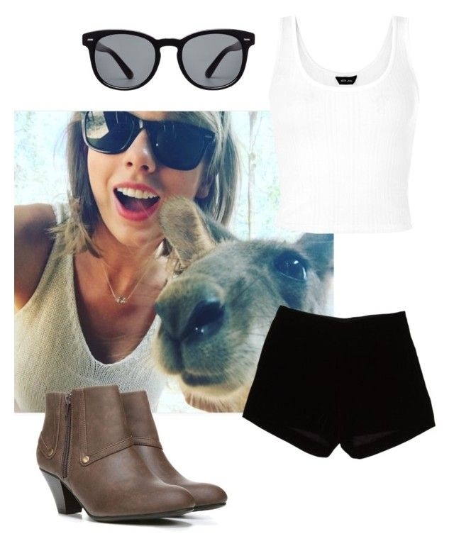 """""""Taylor Swift kangaroo selfie"""" by linseyegm ❤ liked on Polyvore featuring Dolce&Gabbana, Andrew Gn and LifeStride"""