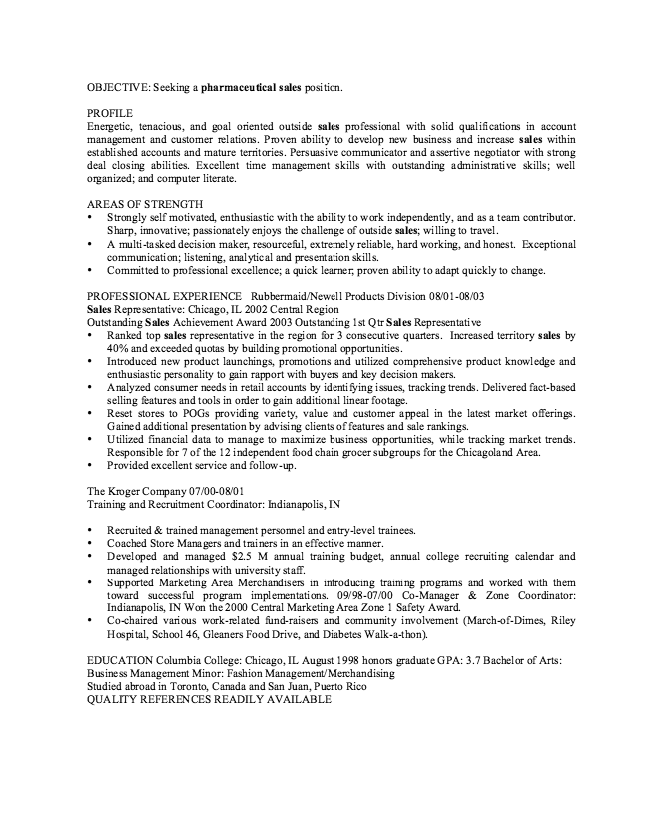Resume Sample Canada Pharmaceutical Sales Resume Sample  Httpresumesdesign .