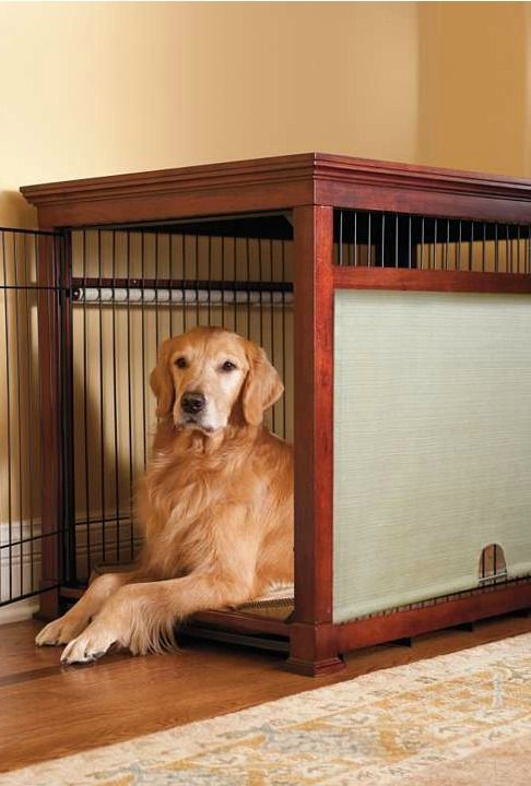 Give your best friend a place to rest without sacrificing your home's style with the Luxury Mahogany Pet Residence Dog Crate; constructed of solid wood and roller shades to provide style and privacy.