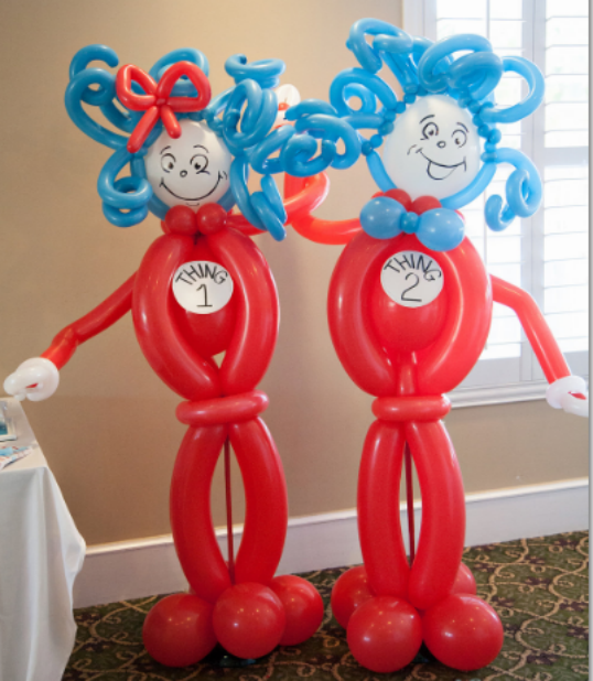 (DELIGHTFUL) DR. SEUSS THING 1 AND THING 2 TWIN BIRTHDAY PARTY