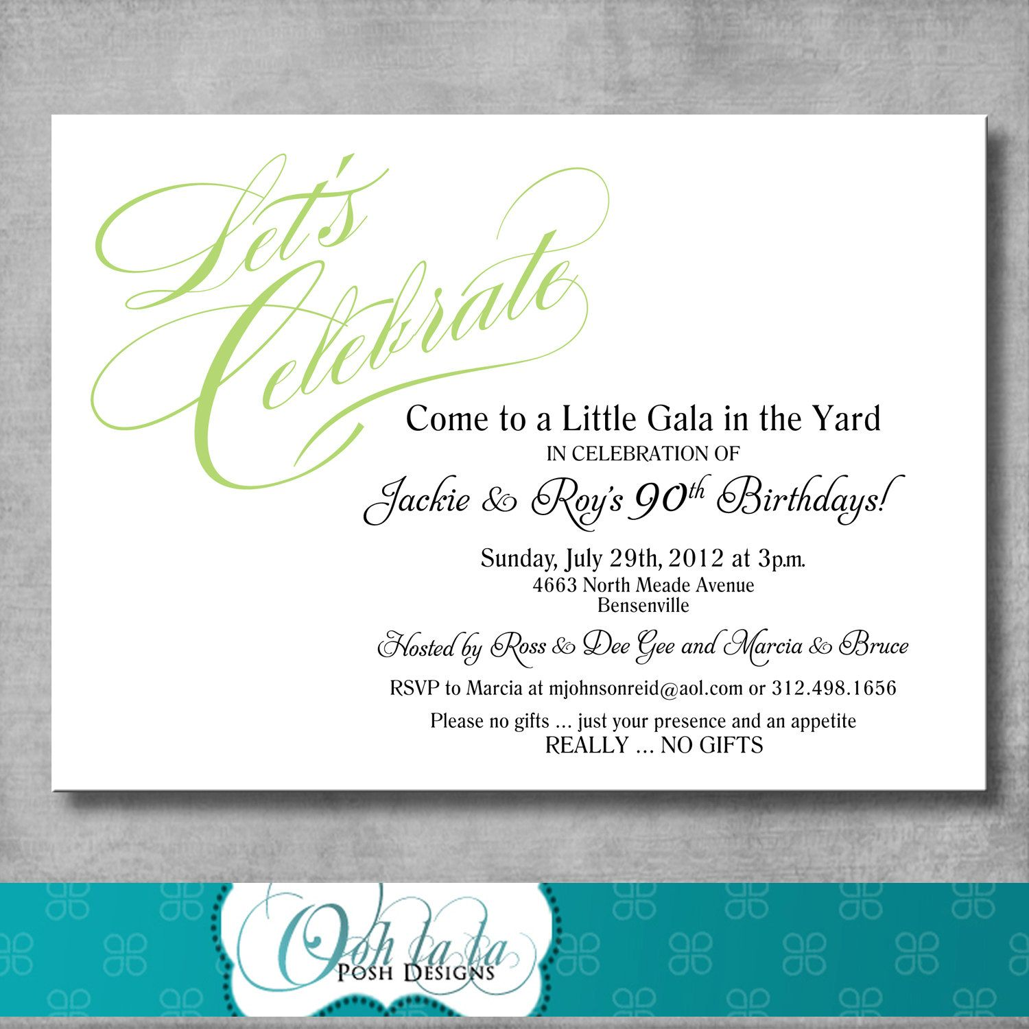 Adult Birthday Party Invitation $12 00 via Etsy